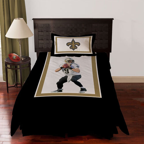 Biggshots New Orleans Saints Drew Brees Comforter Set