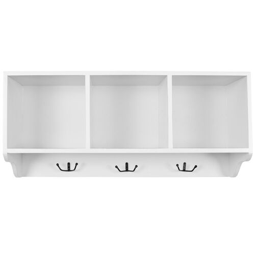 Safavieh Alice Cubby Wall Shelf with 3 Coat Hooks