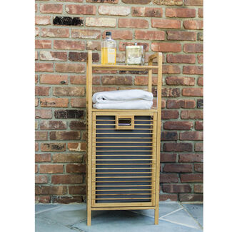 Lightweight Bamboo Hamper Shelf With Magnetic Closure