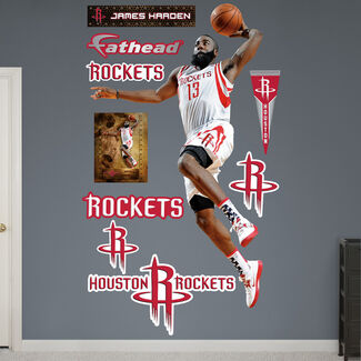 NBA James Harden Dunk Fathead Wall Graphic