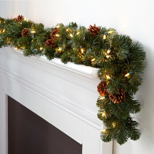 Corded Pre-lit Oregon Fir Christmas Garland