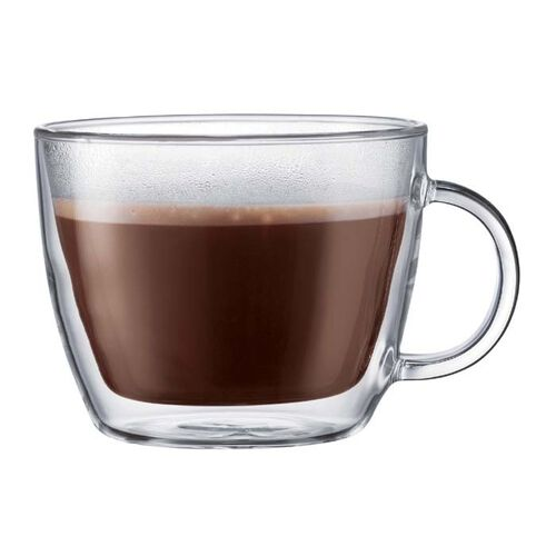 Bodum Bistro 15-oz. Double Wall Café Latte Glass Mug - Set of 2
