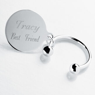 Personalized Silver Tiffany Style Key Ring
