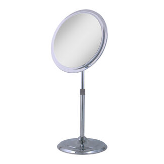 Zadro 5X Telescoping Adjustable-Height Pedestal Vanity Mirror