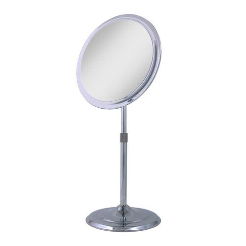 5x Telescoping Adjustable Height Pedestal Vanity Mirror