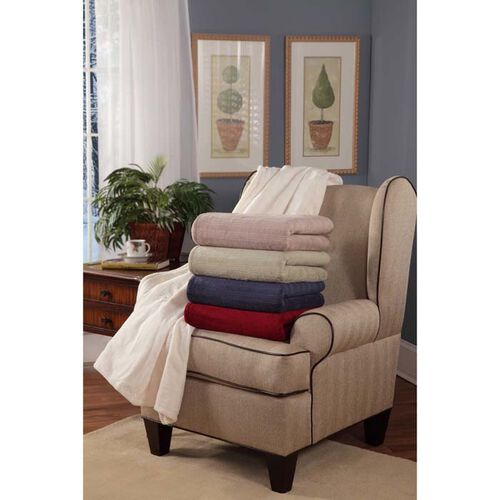 Serta Plush Triple-Rib Heated Blanket