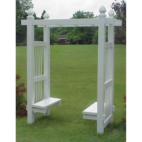 Courtyard Pergola Arbor with Seats