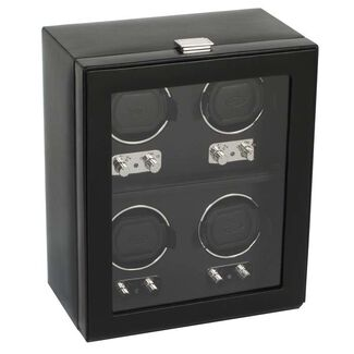 Four Piece Automatic Watch Winder with Cover by Wolf