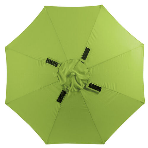 9' Solar Powered Patio & Beach Umbrella with USB Ports