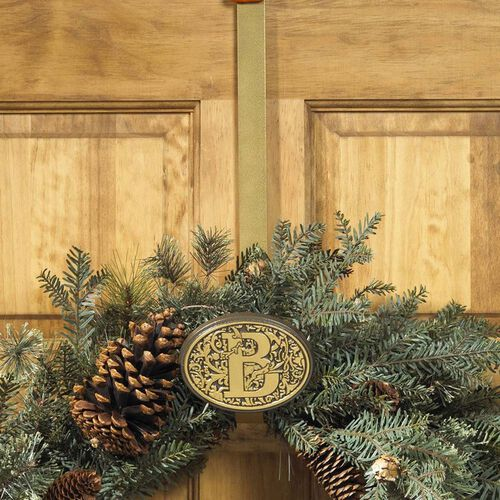 Monogram One Initial Wreath Hanger