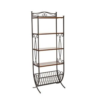 Safavieh Amelia Metal & Wood Étagère Shelf