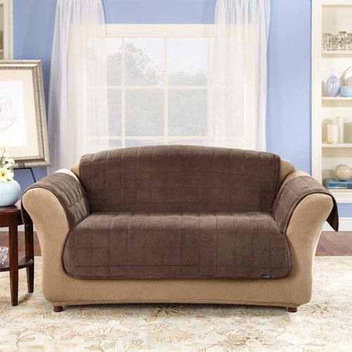 Sure Fit Soft Suede Pet Throw Loveseat Cover