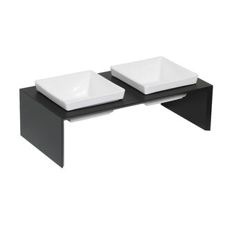 Elevated Double Diner - Raised Dog Feeder w/ 2 Bowls