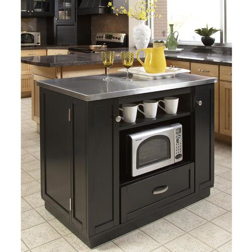 versatile kitchen island w stainless steel top at