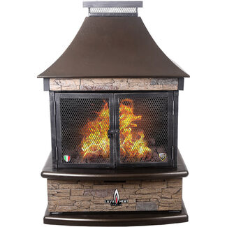 Lorenzo Liquid Propane Gas Outdoor Fireplace