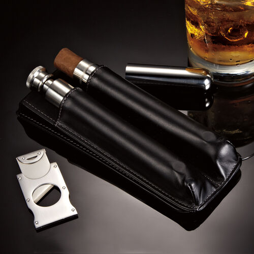 Cigar Lounge - Case, Cutter & Flask