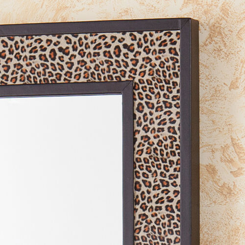 Leopard print long decorative mirror at brookstone buy now for Long decorative wall mirrors