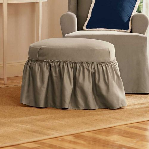Cotton Duck Ottoman Cover