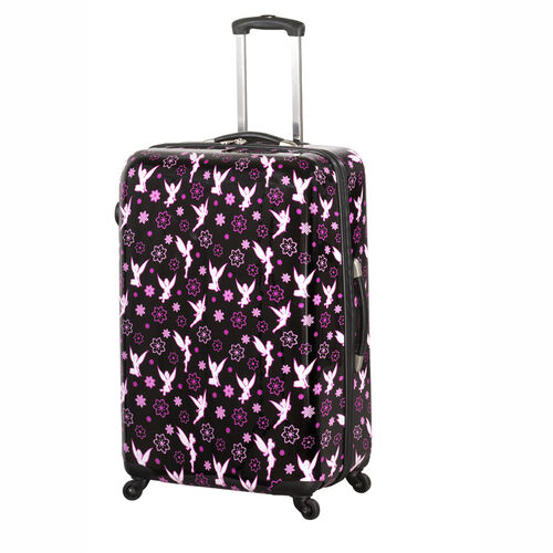 Heys Luggage 30-Inch Tinkerbell Flowers Hardside Rolling Suitcase