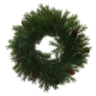 Rattan Angel Pine Cone Wreath