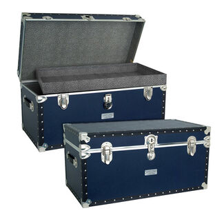 Oversized Footlocker Storage Trunk with Tray