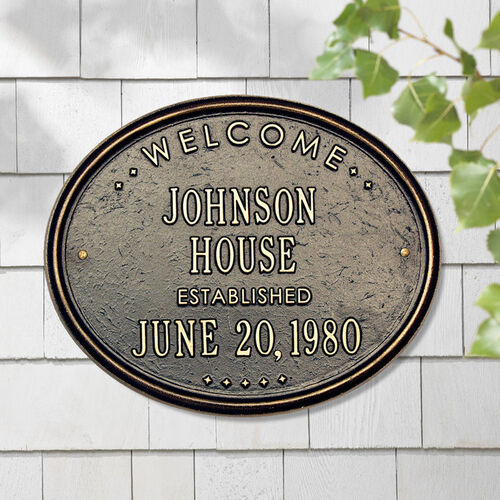 Personalized Welcome House Plaque
