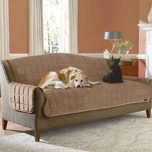 Deluxe Soft Suede Pet Throw Sofa Cover at Brookstone—Buy Now