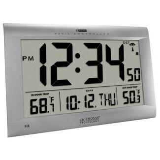 La Crosse Atomic Oversized Digital Wall Clock