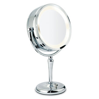 Revolving Lit Makeup Mirror w/ 10X Magnification by Danielle Creations