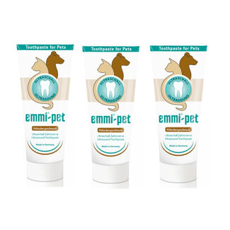 Emmi-Pet Ultrasound Toothpaste with Unique Nano Bubbles for Emmi-Pet Toothbrush - Pack of 3