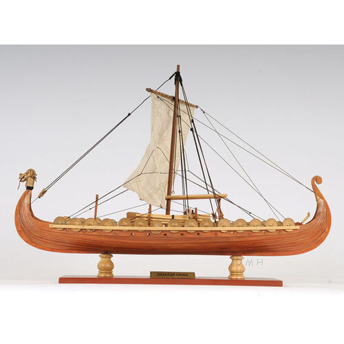 Drakkar Wooden Viking Ship Scale Model
