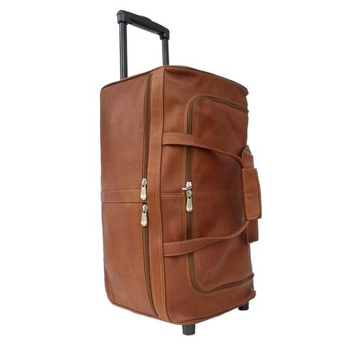 Piel Leather Duffel Bag on Wheels