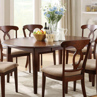 Liam Oval-Top Formal Dining Table with Extension Leaf and Drop Leaves