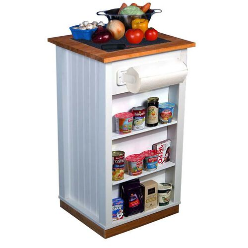 Mini Portable Kitchen Island with Granite Insert