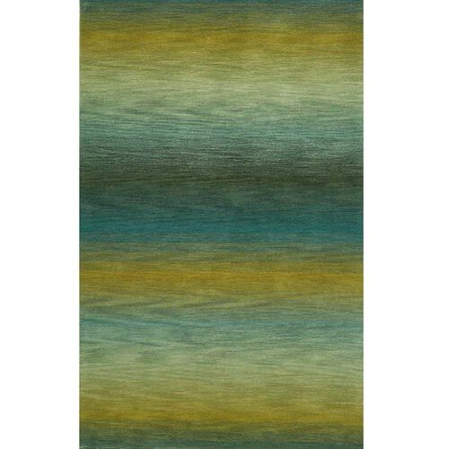 Ombre Stripes Wool Hand-Tufted Rug