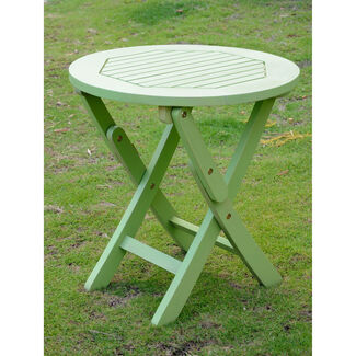 Acacia Round Outdoor Folding Table