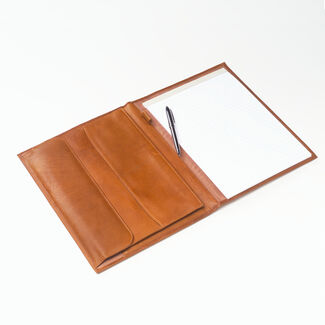 Clava Tuscan Leather Open Padfolio