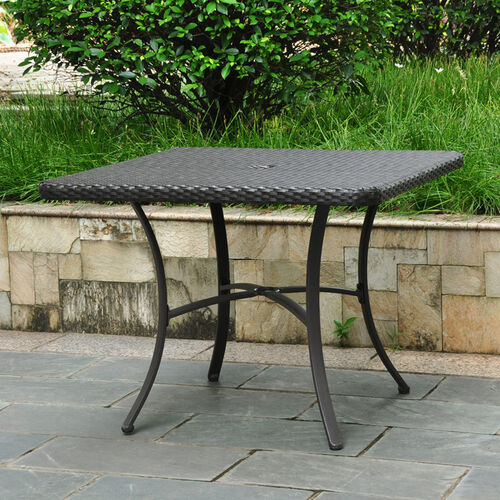 "Barcelona Resin Wicker 39"" Square Dining Table"