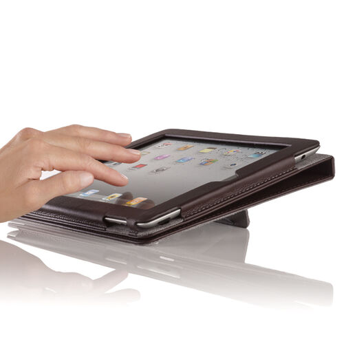 Dual-Stand Leather Case for iPad® Tablets