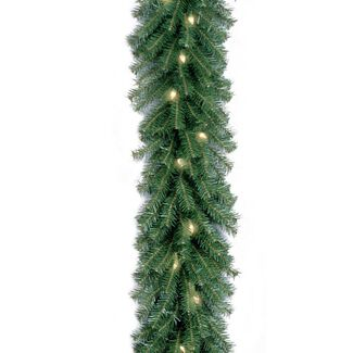 Pre-lit Outdoor Christmas Decorations-Norwood Fir Garland