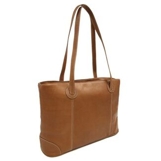 Piel Personalized Leather Ladies Computer Tote Bag