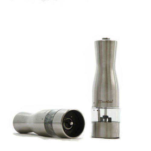 iTouchless EZ Hold Electric Stainless Steel Salt & Pepper Mill/Grinder
