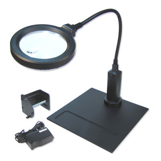 Carson MagniFlex Pro 2x LED Lighted Magnifier w/ 4x Spot Lens