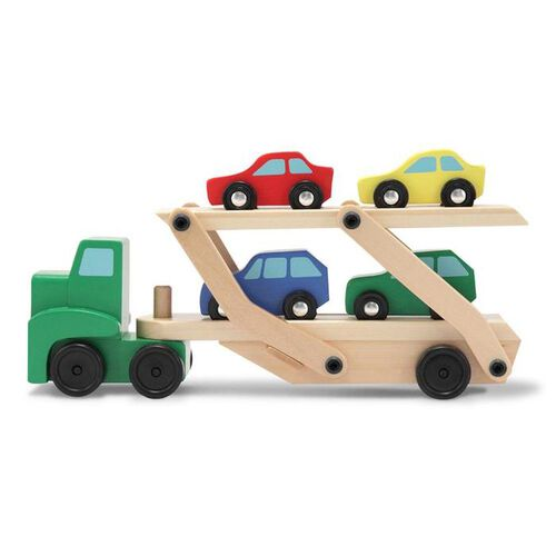 Melissa & Doug Toys - Wooden Car Carrier