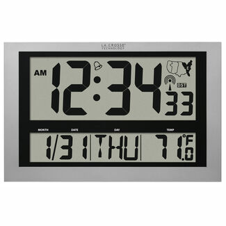 Atomic Time Digital Wall Clock