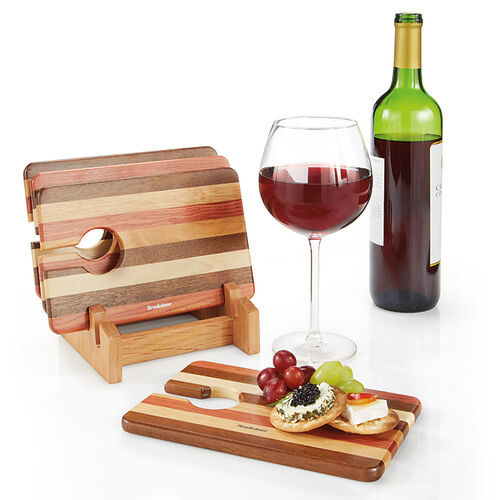 Wine & Snack Trays (Set of 4)