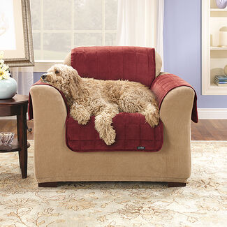 Sure Fit Soft Suede Comfort Pet Throw Chair Cover