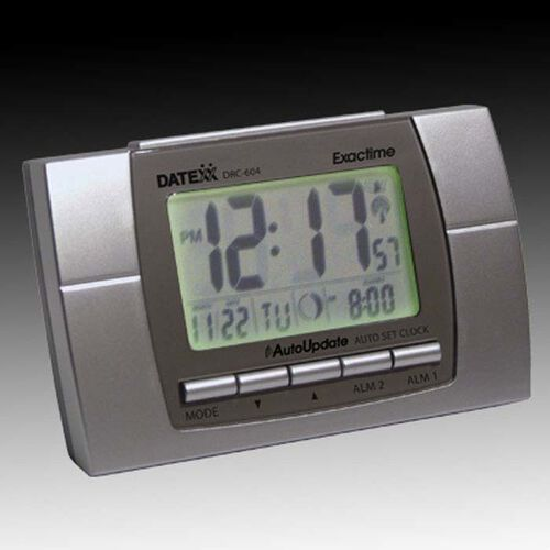 Self-Setting Atomic LCD Clock
