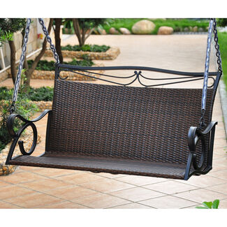 Valencia Steel-Frame Resin Wicker Loveseat Swing