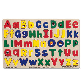 Melissa and Doug Toys: Upper and Lowercase Alphabet Puzzle